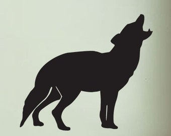 Vinyl Wall Decal Sticker Howling Wolf 35x40 Big