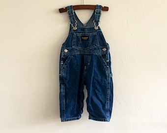 Vintage/baby/boys/girls/OshKosh/overalls/denim/12 months/one year/American vintage/classic/boho/folk