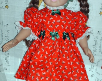 Christmas party dress for American girl doll.