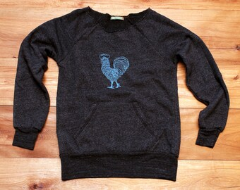ra ra Rooster Sweatshirt, Rooster Sweater, Chicken Sweater, S,M,L,XL