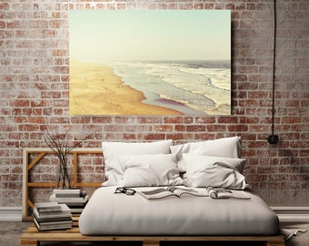 "Beach Canvas Art, Large Canvas Wall Decor, Beach Decor, Landscape, Oversized Art, Ocean Wall Art, Home Decor ""California Dreamin"""