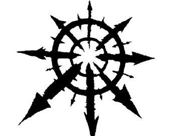 Warhammer 40K Vinyl Decal, Warhammer Chaos Symbol, Warhammer Online Sticker, Chaos Decal, Chaos Star Sticker, Warhammer Chaos Sticker