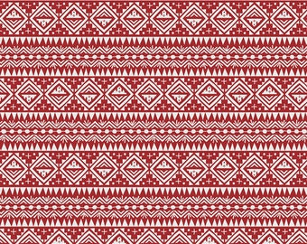 Red Fabric, Geo Fabric, Red, Lore Rooftop, Tallin, Art Gallery, Jessica Swift, Eastern Europe Farbic, 100% Cotton Fabric