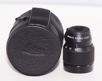 Leica Variable Viewfinder Black for 21/24/28mm with Leica Genuine Leather Case