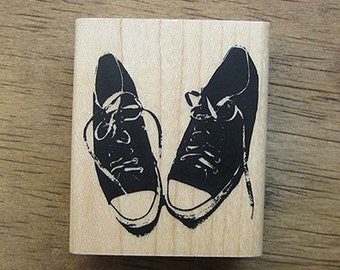 Canvas Shoes Rubber Stamp