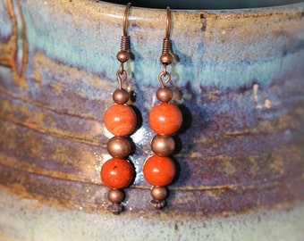 Red Jasper Earrings - Item 1080