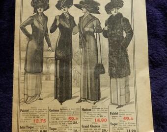Antique French Fashion brochure. Paris 1910