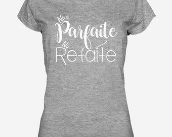 PERFECT or REDONE.2 / gray women T-shirt