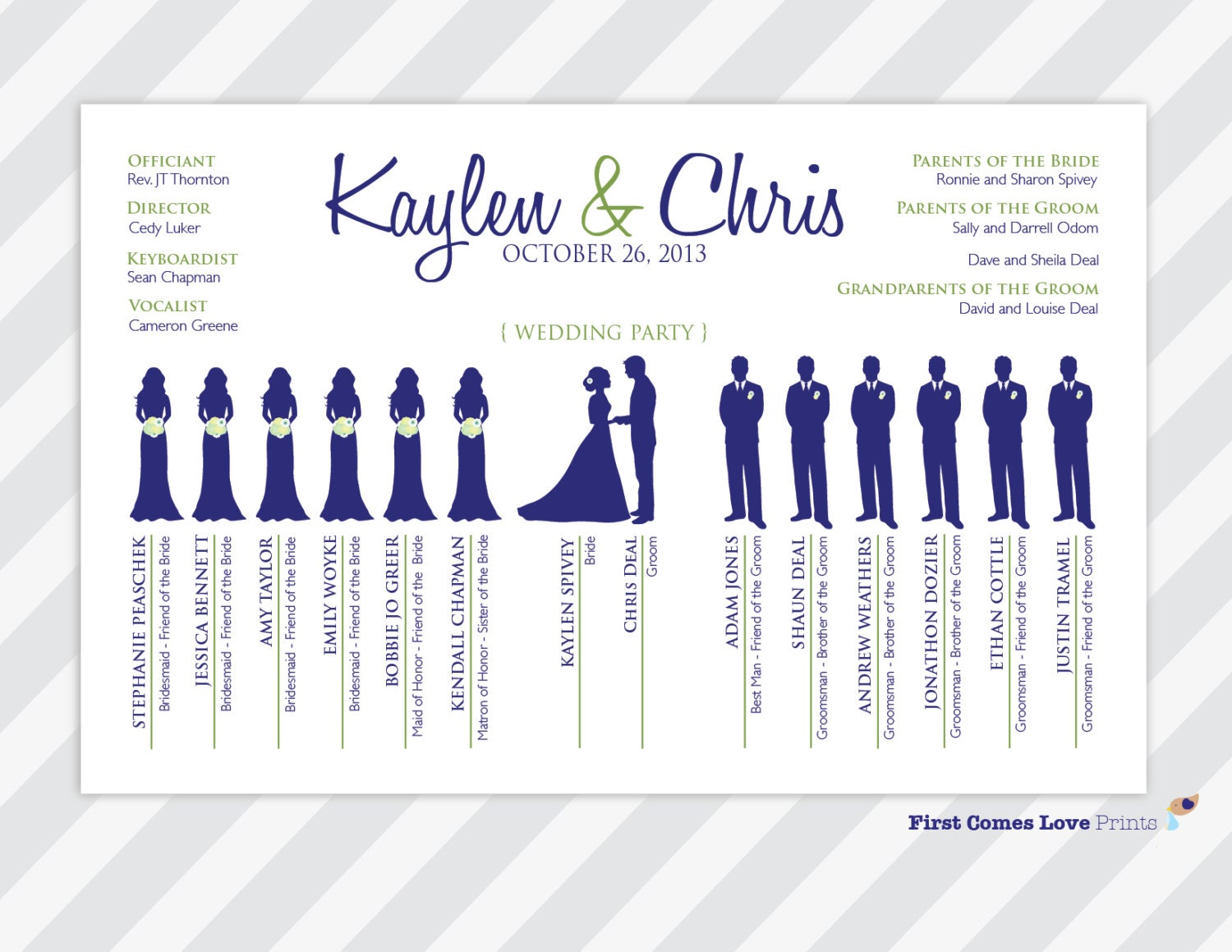 Printable unique wedding program the kaylen zoom pronofoot35fo Image collections