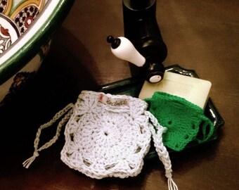 Beautiful soap bag soap bag gift bag-real handmade-large