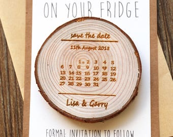 Custom Calender Wood Save the date Magnets, rustic wedding favors, Rustic wedding Magnets,Rustic Wedding Magnet