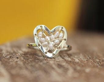 Stitched Heart Ring