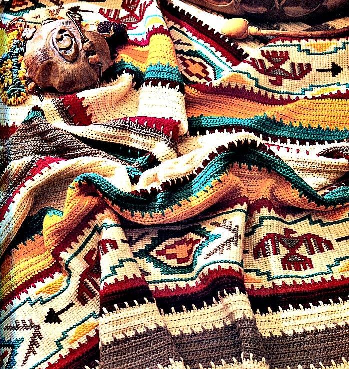 Crochet Blanket Pattern Indian Summer Afghan From