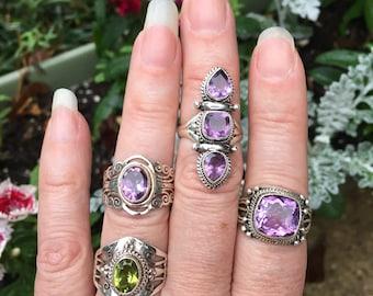 Amethyst ring/8