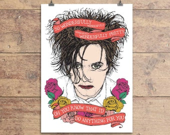 The Cure - Robert Smith - Lovecats - Wonderfully Pretty - Greeting Card - Valentine's Day - Anniversary