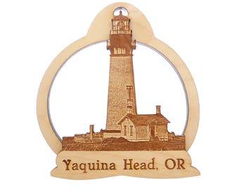 Yaquina Head Lighthouse Ornament - Newport Oregon Coast - Newport Light - Yaquina Bay