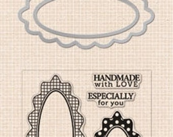 Handmade Tags - Clear Stamps With Matching Die Hero Arts DC139