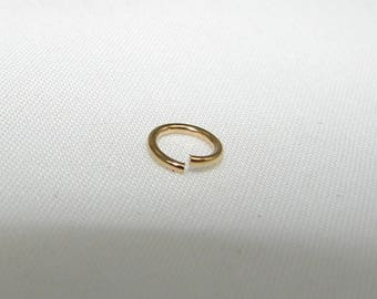 Gold plated ring LR862 round wire of 0.80 mm, diameter of 6.2 mm. (7121731)