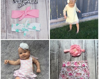 Grab Bag.....Warehouse clearance..... Premium Selection...Baby Headband and Bloomers...FREE U.S Shipping