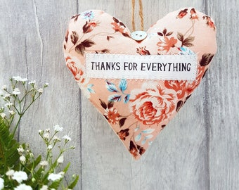 Thank you gift / present 'Thanks for Everything' Choice of Fabric. Gift Boxed - Lavender scented