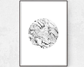Marble Wall Decor - Minimalist Poster - Scandinavian Print - Modern Wall Art - Black and White - Large Wall Art - Instant Download - Home.