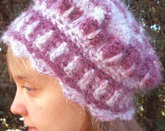 Sweet Chignon Freeform Crocheted Cap