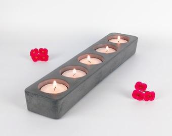 Tea Light Candle Holder / Concrete Candle Holder / Cement Candle Holder / Candle Holder Centerpiece / Modern Votive Holder / Industrial Home