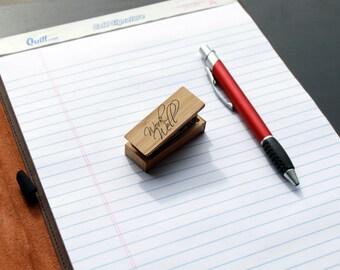 Engraved Wood Stapler, Customized Wood Stapler,Personalized Stapler, Engraved Mini Stapler,Custom Wood Mini Stapler --STP-WOOD-WorkWell