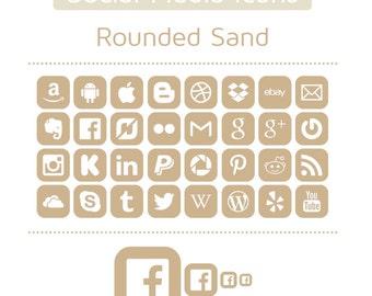 Sand Social Media Icons