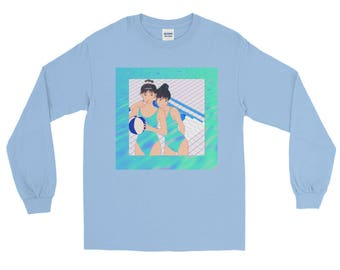 Vaporwave Aesthetic Anime PoolParty-B.Y.O.B. Long Sleeve T-Shirt