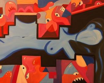 """Peace through the Tumult. 36""""x24"""" oil on canvas."""