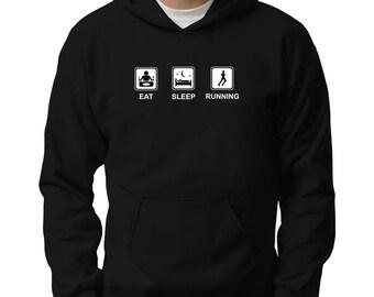 Eat sleep Running Hoodie