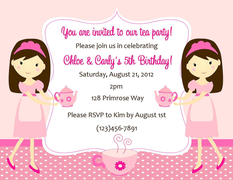 Tea party invitation digital file tea party birthday zoom monicamarmolfo Image collections