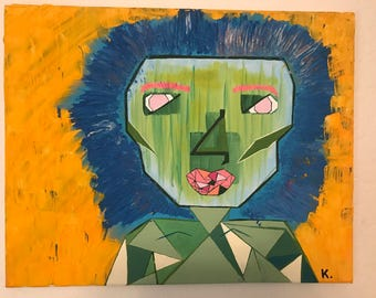 """ORIGINAL ACRYLIC PAINTING* """"Congested"""" by Kelly De Foreest"""