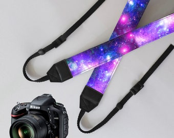 camera strap in personalized with galaxy pattern for men and women,durability and strength and comfort
