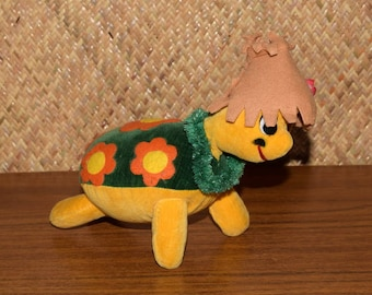 1960's Japanese Dream Pets Collectable Hawaiian Turtle Soft Toy