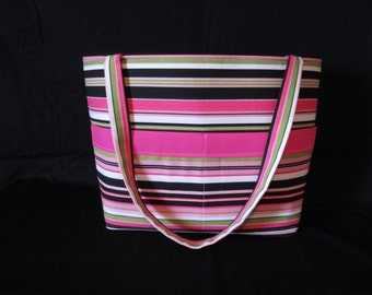 pink and green  Diaper Bag