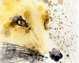 "Martinefa's Original watercolor and Ink ""Renard #1"""