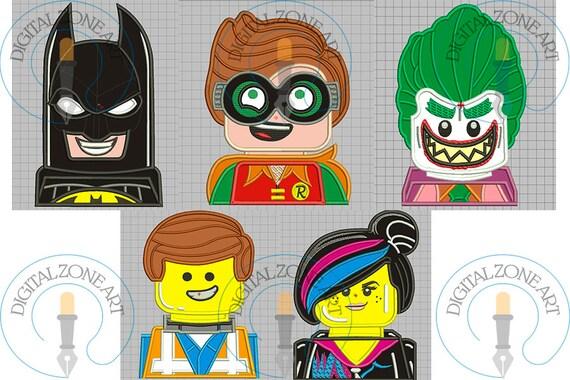 Batman Lego Movie Characters Applique Pack-Batman Lego Movie