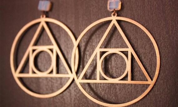 HERMETISCHE Abdichtung des Lichts Quadrat Kreis Alchemie