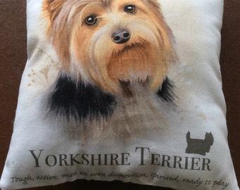 Yorkshire Terrier mini cushion