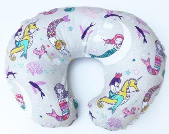 Nursing Pillow Cover Mermaid Lullaby. Nursing Pillow. Nursing Pillow Cover. Minky Nursing Pillow Cover. Mermaid Nursing Pillow Cover.