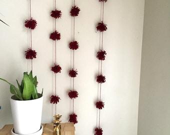 PomPom Garland 006, Cranberry Red