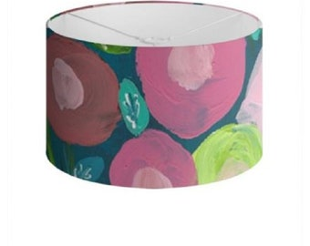 """Floral Lamp Shades """"Spring Blooms"""" Limited Edition Print - 40 cm"""