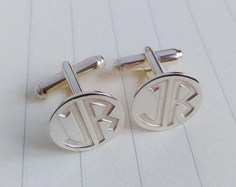 Wedding Cufflinks,Two Letter Monogram Cufflinks,Groom Cufflinks,Personalized Cufflinks,Engraved Cufflinks,Groom Gift from Bride
