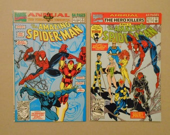 Amazing Spider-Man Annuals #25 and #26; Venom; Black Panther; Iron-Man; Ghost; King Pin; Vibranium; First Venom Solo Stories; Key Comics!