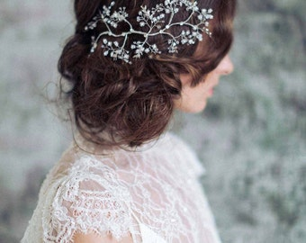 Bridal hair headpiece -Glistening sparkles branch headpiece - Style 730 - Made to Order