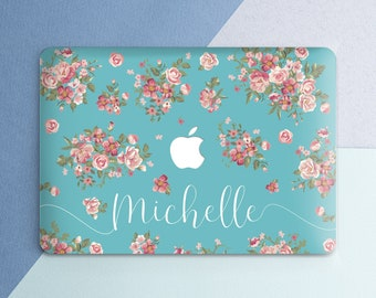 Name Macbook case Floral Macbook pro case Name Macbook pro 13 case Macbook pro 15 Personalized Macbook air case Flower Macbook air 13 case