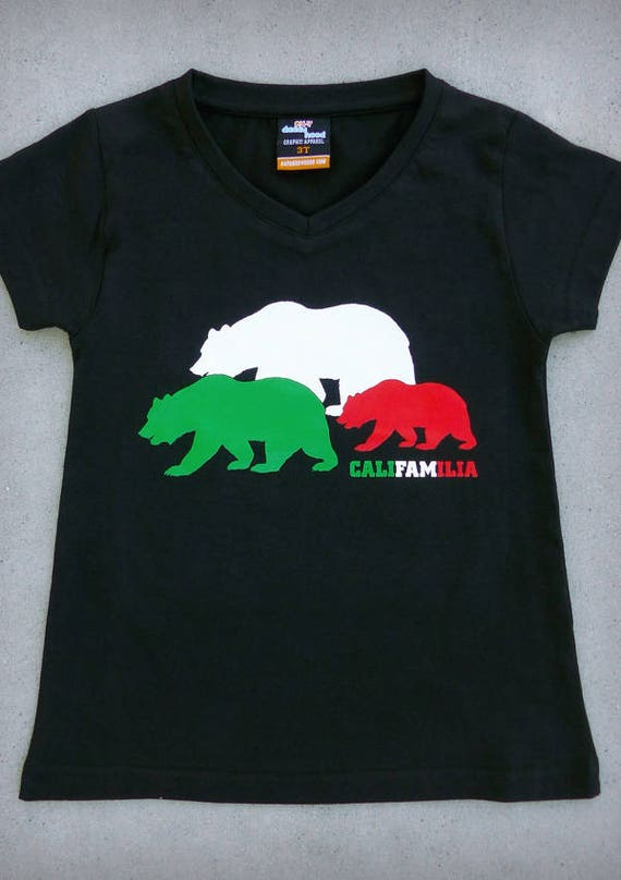califamilia california bears with mexican flag colors