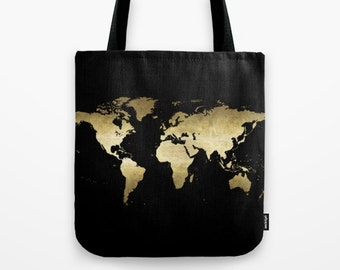 World map tote floral map tote bag canvas tote floral tote world map tote gold foil map tote bag canvas tote black and gold tote travel tote bag world travel adventure globe tote travel bag shop tote gumiabroncs Choice Image